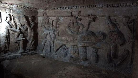 Las catacumbas de Kom el Shuqafa son consideradas las más famosas e importantes de Alejandría. (Foto: AFP)