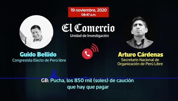 Arturo Cárdenas, secretario de Organización de Perú Libre, fue uno de los dirigentes que coordinó el pago de la reparación civil de Vladimir Cerrón. (Foto: Captura)