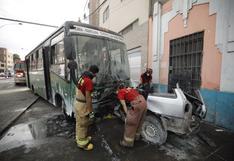 Accidente en Cercado de Lima: ATU inhabilitará a bus que chocó contra un taxi y dejó un muerto