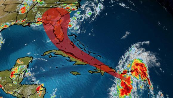 En el patrón de trayectoria de Isaías para los próximos días están República Dominicana, Haití, Cuba, Bahamas y el sur de Florida, adonde llegaría el viernes por la noche o el sábado. (Foto: ACN)