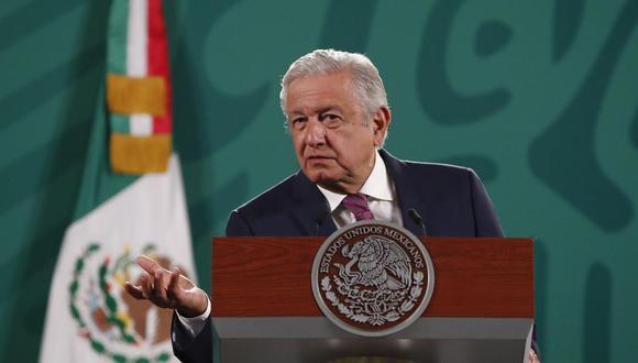El presidente de México, Andrés Manuel López Obrador, ofrece una rueda de prensa el 28 de junio de 2021, en el Palacio Nacional, en la Ciudad de México. (EFE/ José Méndez).