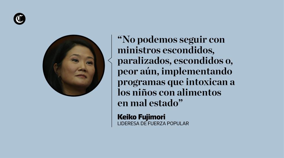 Keiko Fujimori cuestionó al presidente Martín Vizcarra por plantear proyectos de reforma política, a los que calificó como populistas. (Composición: El Comercio)