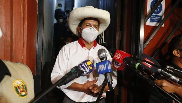 Pedro Castillo explicó en rueda de prensa que no culminó el proceso de inscripción de la empresa. (Foto: Mario Zapata Nieto / @photo.ge)