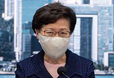 "EE.UU. sanciona a Carrie Lam, jefa del ejecutivo de Hong Kong, por ""socavar autonomía"" del territorio"