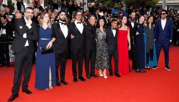 """Gael García durante la presentación de la película """"La belle époque"""", del cineasta francés Nicolas Bedos, en el marco de la 72 edición del Festival de cine de Cannes (Foto: Agencia)"""