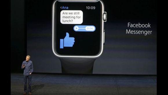 Facebook actualizó su aplicación de Messenger para Apple Watch