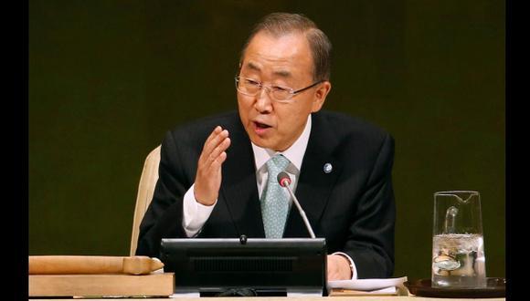 """""""Parece que el mundo se está derrumbando"""", advierte Ban Ki-moon"""