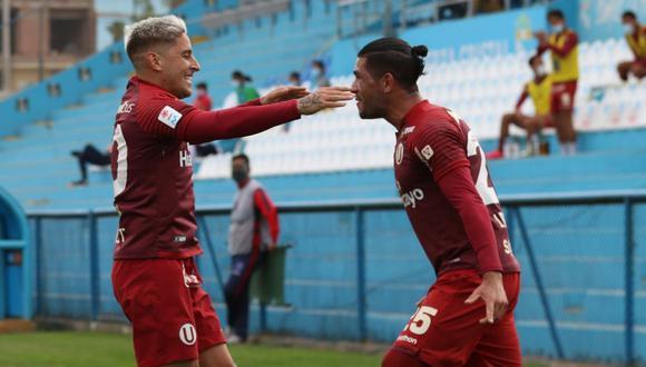 Alejandro Hohberg y Jonathan Dos Santos fueron los mejores anotadores de Universitario en la campaña 2020. (Foto: Liga 1)
