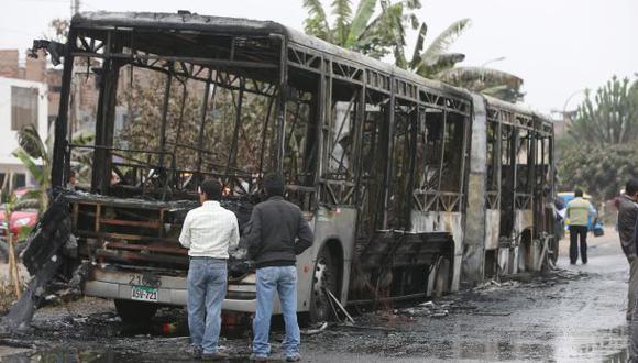 Pro Transporte evalúa sancionar a compañía de bus incendiado
