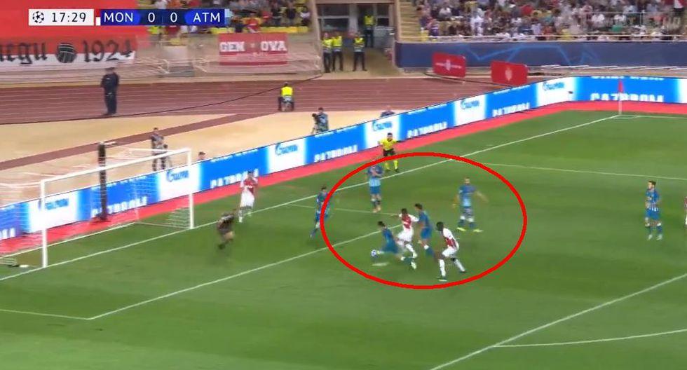 Atlético de Madrid vs. Mónaco: el gol para el 1-0 que sorprendió a los 'colchoneros'. (Foto: captura)