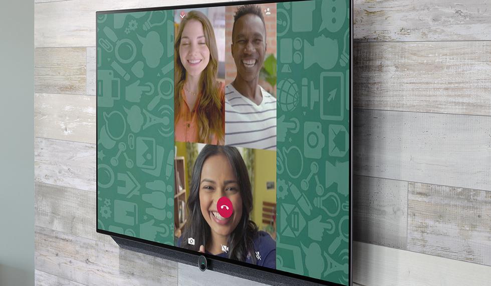 De esta forma podrás realizar videollamadas de WhatsApp en tu televisor. (Foto: WhatsApp)