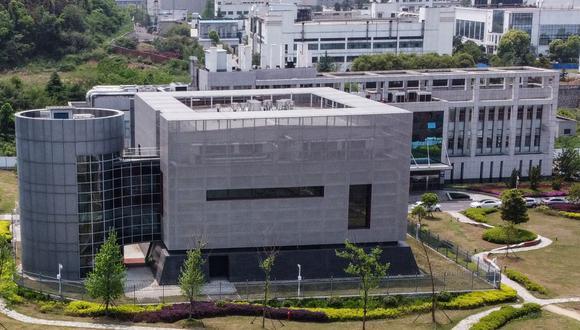 Una vista aérea muestra el laboratorio P4 en el Instituto de Virología de Wuhan, en China. (Foto de Hector RETAMAL / AFP).