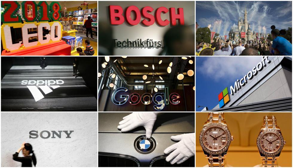 Según el ránking Reptrak 2018, estas son las marcas con mayor reputación a nivel mundial. (Fotos por Reuters)