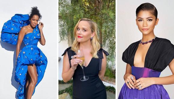 Figuras como Zendaya, Reese Whiterspoon, Jennifer Aniston y más alistaron sus mejores galas para la ceremonia. (Fotos: Instagram / @bulgari / @iamreinaking / @reesewhiterspoon)