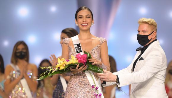 Janick Maceta tras convertirse en la segunda finalista del Miss Universo 2021. (Foto: BENJAMIN ASKINAS para missuniverse.com).