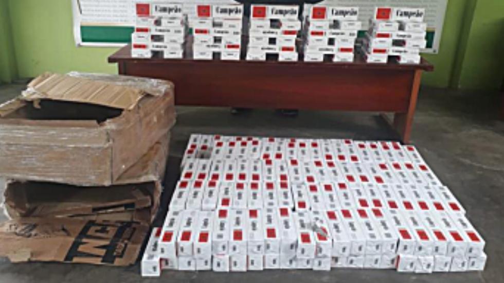 Cigarrillos eran transportados en calidad de encomienda sin documentación que acredite su procedencia legal. (Policía Nacional)