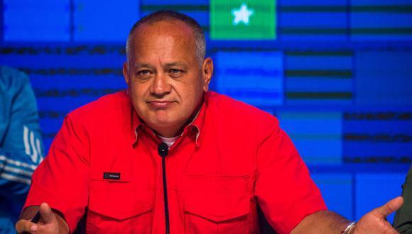 El número 2 del chavismo, Diosdado Cabello, demandó al diario El Nacional de Venezuela. (Foto: Cristian Hernandez / AFP).