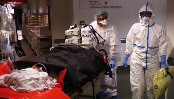 Una víctima del coronavirus en una hospital de Montpellier. (Foto referencial: EFE)