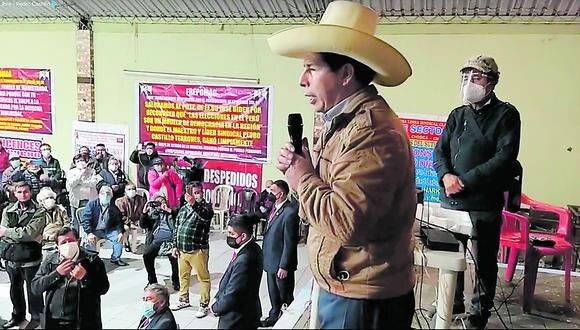 Líder de izquierda señala que la Constitución actual lo tendría atado. (Foto: Perú Libre)