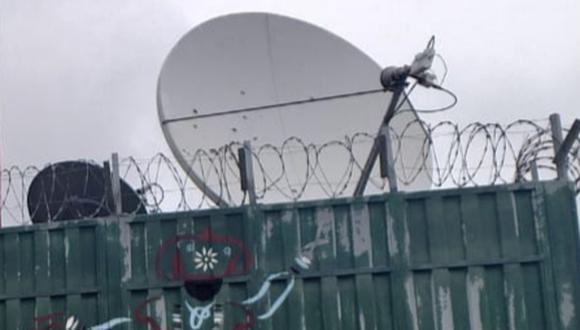 Esta es la antena que fue baleada está en Huallhuapampa (Huancavelica).