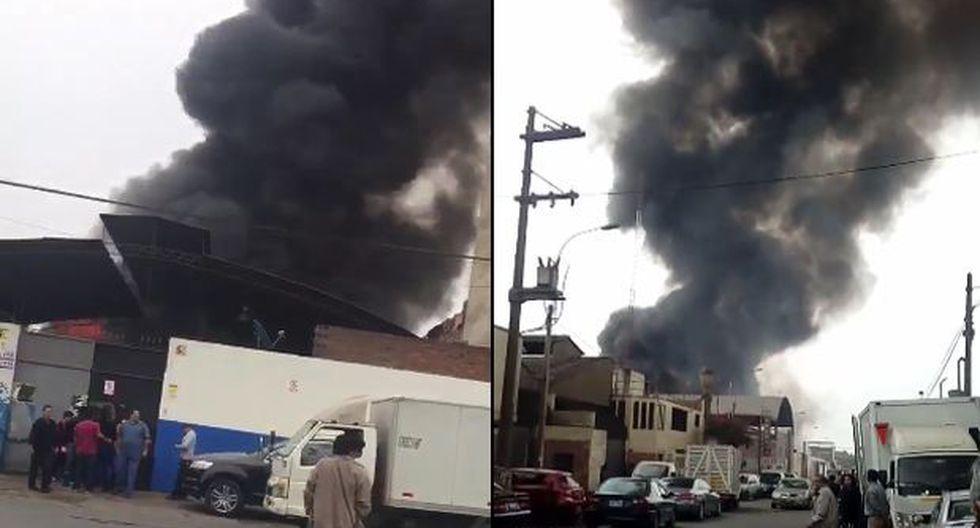 San Luis: incendio destruye almacén de sillas de ruedas de MIMP