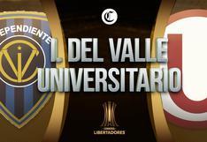 EN VIVO HOY, Universitario vs Independiente del Valle: horarios por países y canal que transmitirá choque por Copa Libertadores