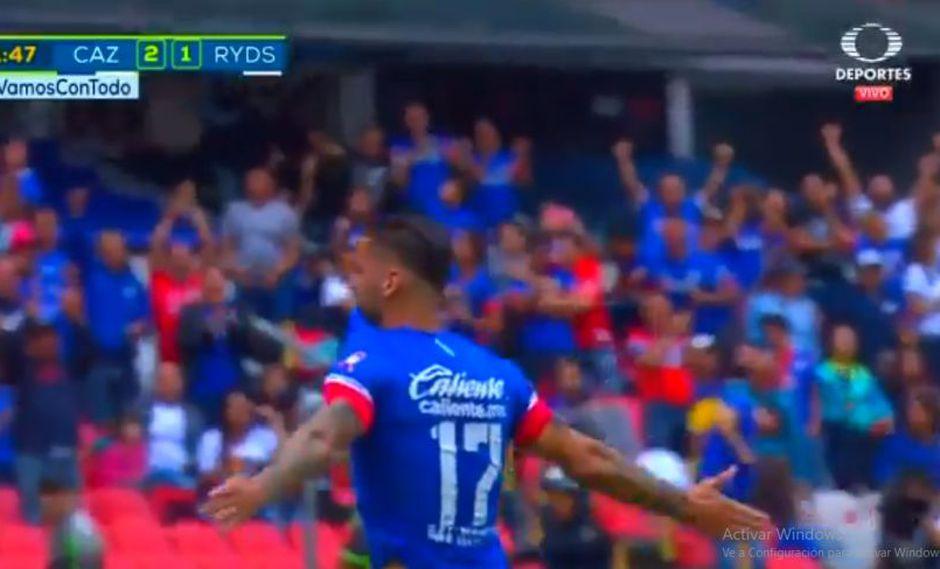Cruz Azul derrotó 2-1 a Monterrey por una nueva fecha de la Liga MX. Édgar Méndez fue el autor del segundo gol de los 'Cementeros' (Foto: captura de pantalla)