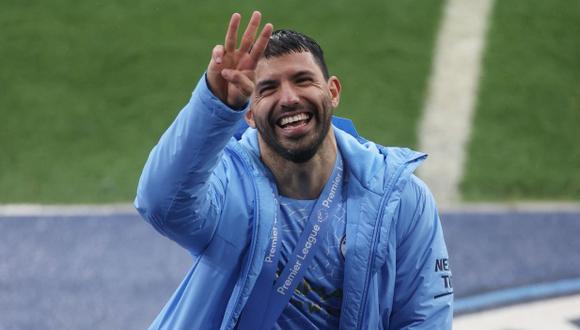 Sergio Agüero se despidió del Manchester City después de diez años. (Foto: Reuters)