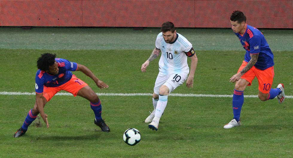 Argentina vs. Colombia EN VIVO ONLINE vía TyC Sports: con Messi y James, empatan 0-0 por Copa América.   Foto: Reuters