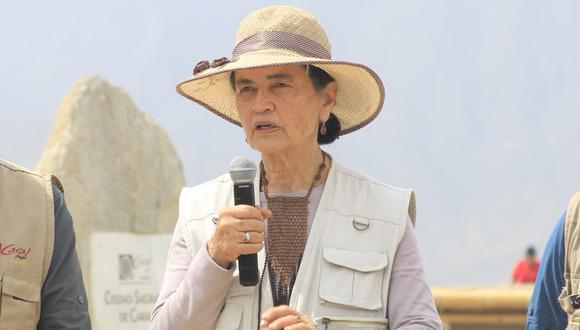Ruth Shady lleva investigando sobre Caral 25 años. (Foto: Zona Arqueológica de Caral)