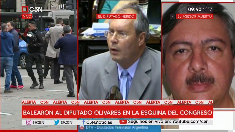 EN VIVO | Disparan a diputado Héctor Olivares en inmediaciones del Congreso de Argentina