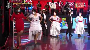 Lorena Álvarez aprende a bailar marinera en vivo por Fiestas Patrias