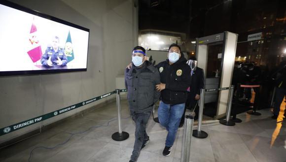 Job Luque Ayala fue llevado a la sede de la Dirincri para ser interrogado. (Foto: César Bueno/GEC)
