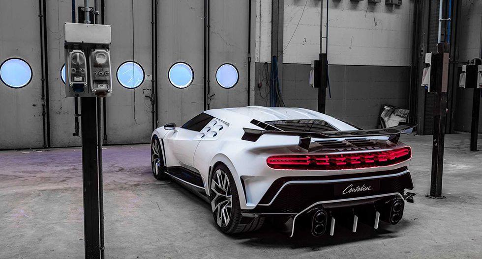 Cristiano Ronaldo compró un Bugatti Centodieci. Se trata de un superdeportivo equipado de un motor W16 de 8.0 litros con cuatro turbos y 1.600 hp. (Fotos: Bugatti).