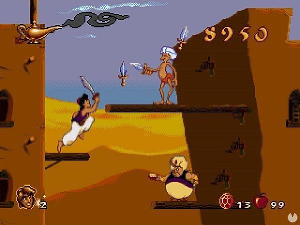 Disney's Aladdin para la Sega Génesis salió en 1993, el videojuego lo desarrolló Virgin Interactive. (Captura de pantalla)