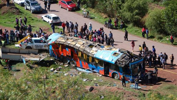 Accidente se registró en la conocida como Calvario, en Huacarpay. (Foto: AP)