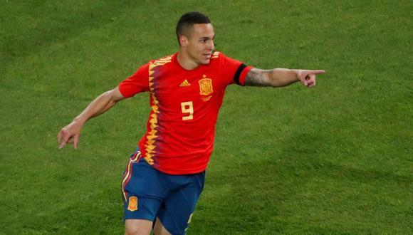 Rodrigo, el nuevo '9' de España, lleva dos anotaciones en la misma cantidad de participaciones por la UEFA Nations League. Su nueva víctima fue Croacia, subcampeona del Mundial 2018. (Foto: AFP)