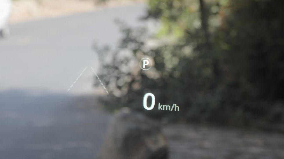 También tenemos disponible un head-up display (HUD).