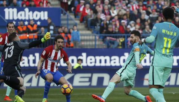 Messi anotó así gol del triunfo de Barcelona ante el Atlético