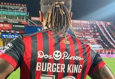 """Jonathan McDonald, goleador costarricense, salió a la cancha como """"Burger King"""""""