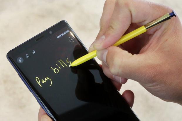 Samsung Galaxy Note 9. (AP)