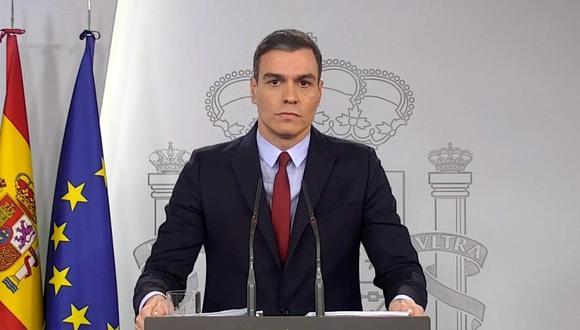 El presidente del gobierno de España, Pedro Sánchez, decretó el estado de alarma para enfrentar el brote de coronavirus. (EFE).