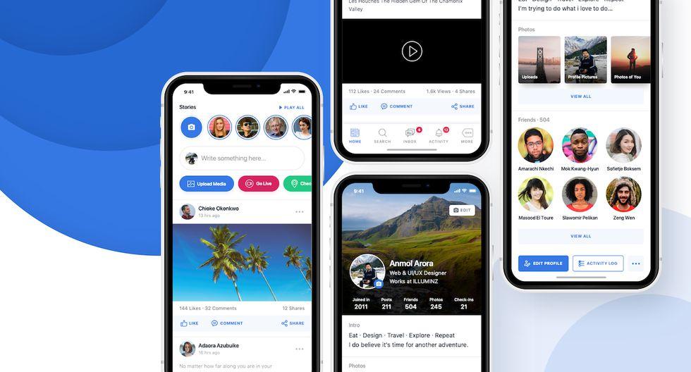 ¿Cómo es el nuevo cambio de Facebook? Aplicación ahora se podrá usar con una sola mano en su versión actual. (Foto: Facebook)