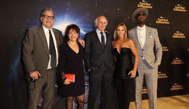 "The cast of ""Curb Your Enthusiasm"": Jeff Garlin, Susie Essman, Larry David, Cheryl Hines y J. B. Smoove. (Foto: AFP)"