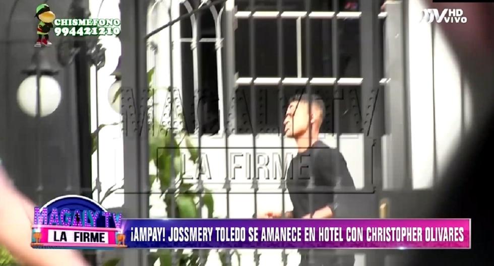 JOssmery ToledoJossmery Toledo y Christopher Olivares son captados en hotel. (Foto: Captura ATV)