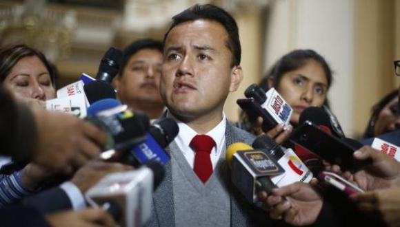 """El hijo de César Acuña Peralta indicó en el plenario nacional de APP que en menos de un mes """"se define el futuro del país"""". (Foto: El Comercio)"""