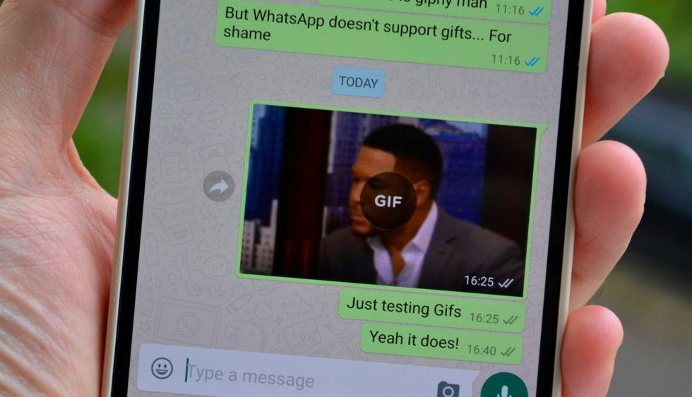 Utilizar GIFs como respuestas en los chats de WhatsApp (Foto: AndroidAuthority)