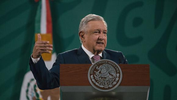 El presidente de México, Andrés Manuel López Obrador, en su tradicional conferencia de prensa. (BLOOMBERG).