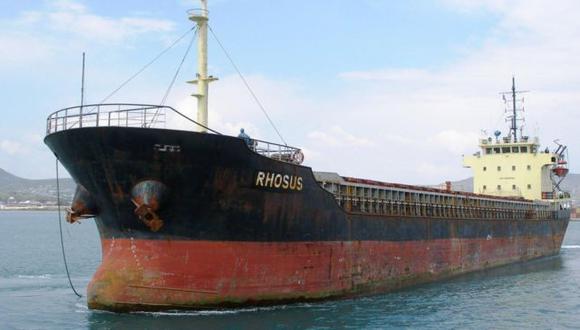 El MV Rhosus llegó a Beirut en 2013 con las 2.750 toneladas de nitrato de amonio. (EPA).