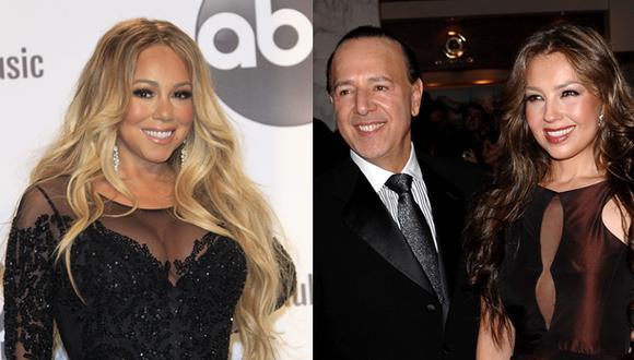 Mariah Carey reveló detalles sorprendentes de su ex relación con Tommy Mottola, actual esposo de la cantante Thalía. (Fotos: Agencia)